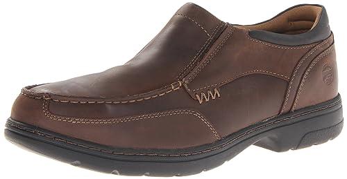 Zapato industrial y de construcci¨®n Stockdale Oxford con punta de aleaci¨®n para hombre, marr¨®n cuero de grano entero, 9 M US