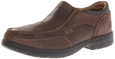 Timberland PRO Men's Branston Moc Toe Slip-On Work Shoe,Brown Distressed,7
