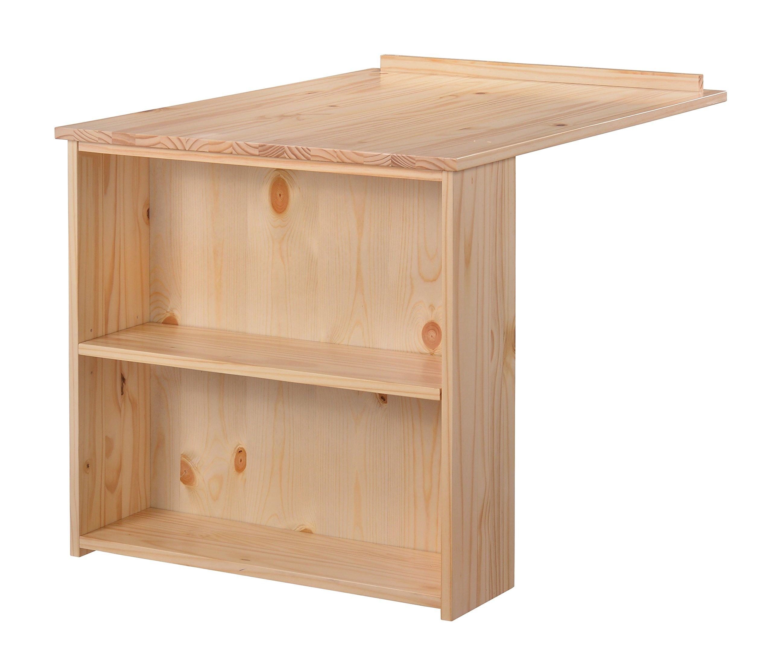 Whistler Junior Slide Out Desk, Natural, Under-Loft-Bed Desk, Solid Pine and Composites Construction, Space-Saving Desk for Kids Room or Teens Room