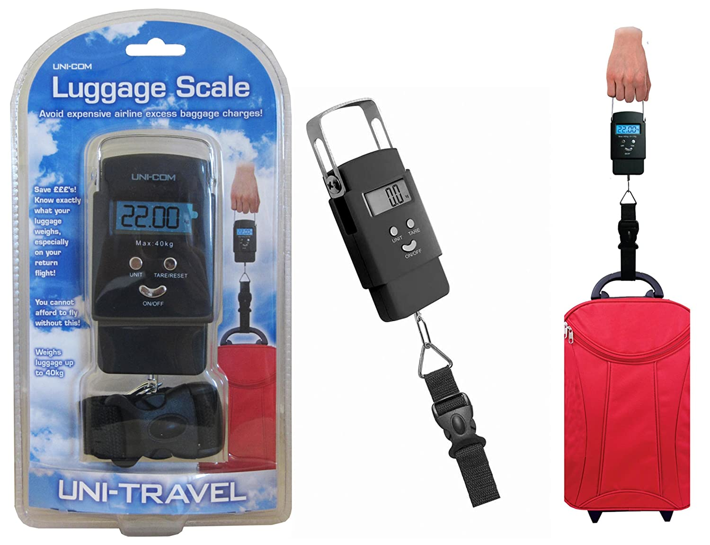 Uni-com 57833 Digital Luggage Scales - Black: Amazon.co.uk: Kitchen ...