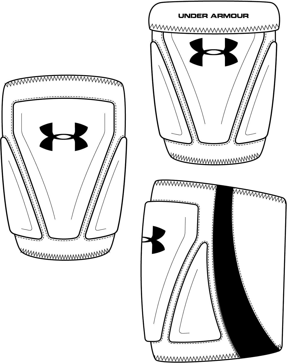 Under Armour Unisex Strive Volleyball Knee Pads White Black Sm Md Amazon Co Uk Sports Outdoors