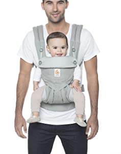 Ergobaby Carrier, 360 All Carry Positions Baby Carrier, Pearl Grey