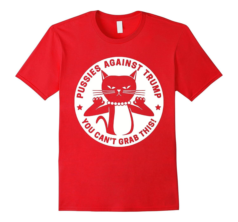 You Cant Grab This Funny Trump Debate Cat T-Shirt-RT