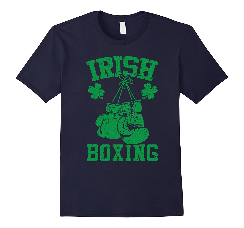 Green Vintage Ireland Boxing Tee - Clover Leaf Shirt- TPT
