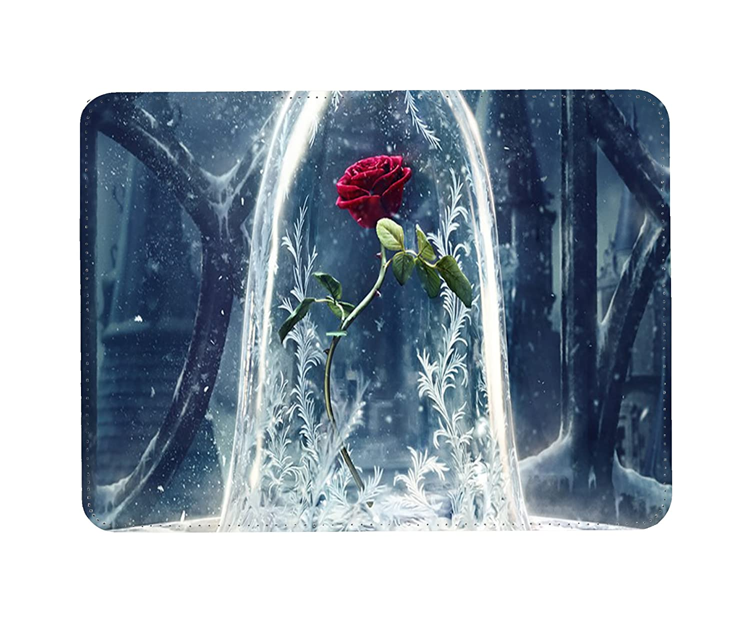 Beauty & The Beast Rose In Glass Vase PU Faux Leather