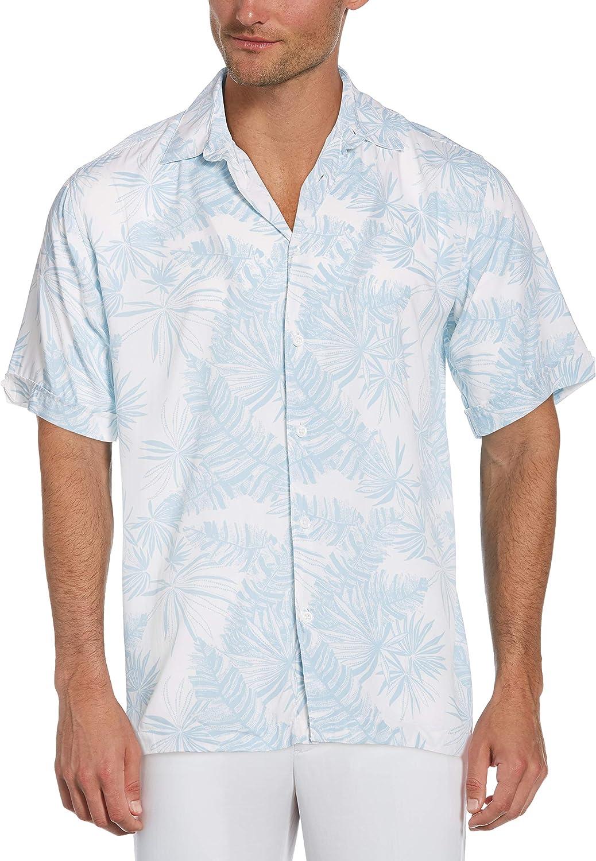 Cubavera Men's Tropical Leaf Print Short Sleeve Shirt Ranking Branded goods TOP19