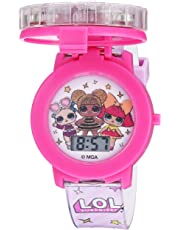 L.O.L. Surprise! Girls' Quartz Watch with Plastic Strap, Pink, 17.4 (Model: LOL4042)
