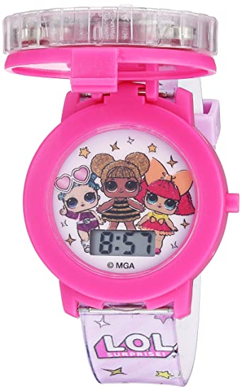 LOL Surprise! Girls Quartz Watch with Plastic Strap, Pink, 17.4 (Model: LOL4042)
