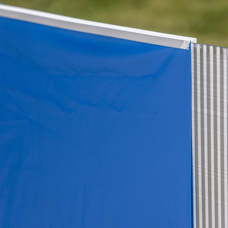 Couleur Bleue Longueur x Largeur x Hauteur Liner pour piscines ovales Gre FPROV730 730 x 375 x 120 cm