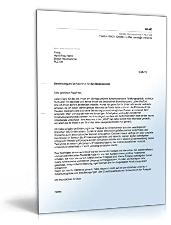 anschreiben bewerbung verkufer word dokument - Bewerbung Verkaufer