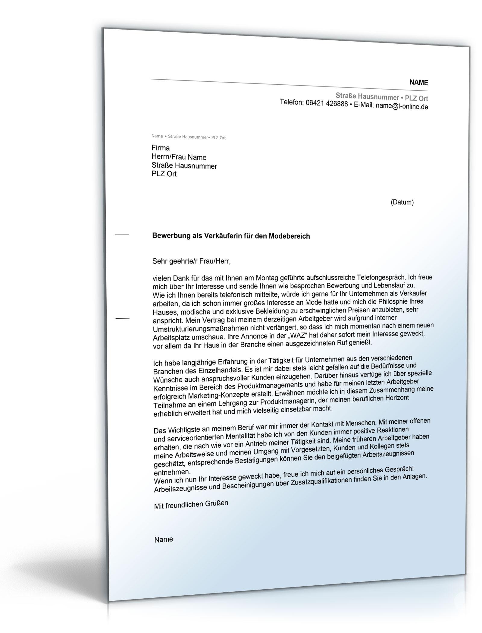 fleischereifachverkufer anschreiben bewerbung verkufer word dokument amazonde software - Verkauferin Bewerbung
