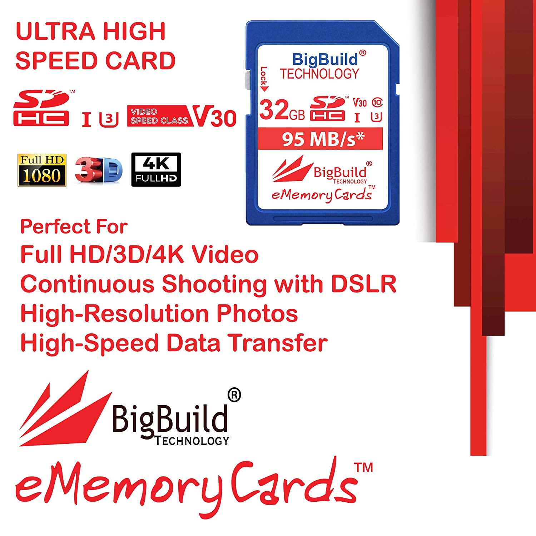 TZ91 TZ90 TZ81EG-K Tarjeta de Memoria para c/ámara Panasonic Lumix DMC TZ80 TZ90EB-K TZ81EG-S ZS50S ZS50K BigBuild Technology UHS-I U3 TZ81 TZ81EG-K ZS70