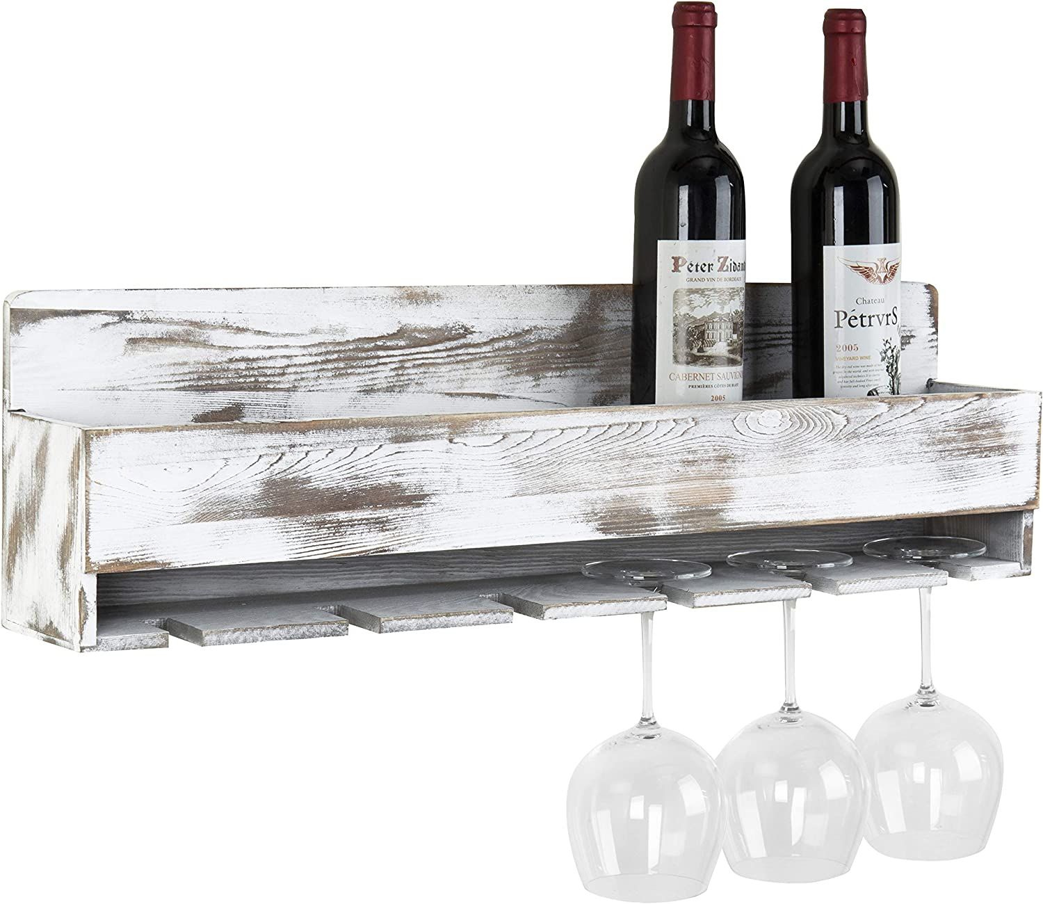 wall hanging wine rack wood