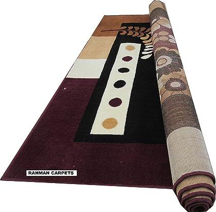 Rahman Carpets Polyester BCF Carpet (Brown, 5x7ft)