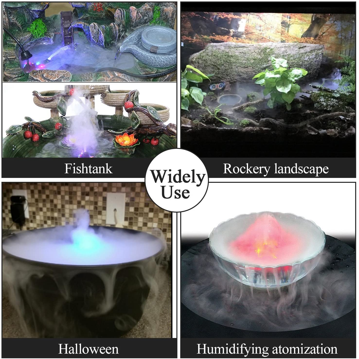 AGPTEK Aluminum Mist Maker Fog Maker for Water Fountain Pond Rockery Fishtank Vase Birdbath : Garden & Outdoor
