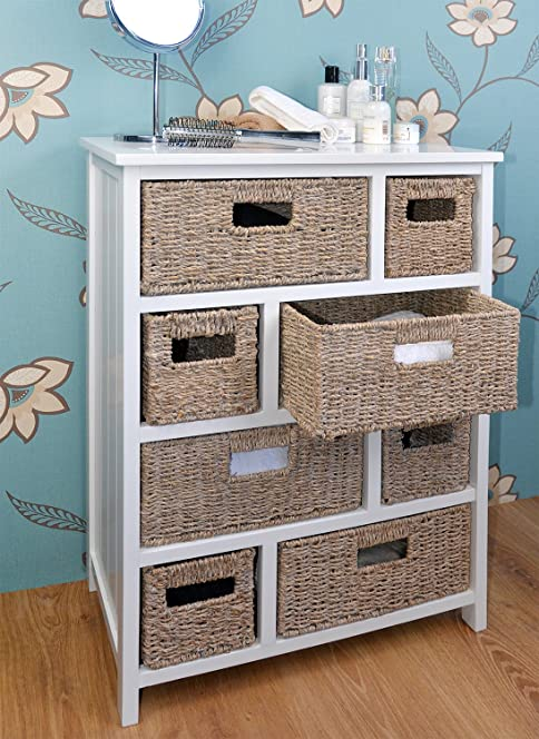 bathroom baskets. Tetbury Large Chest of Drawers with Whitewash Baskets  White hallway bathroom basket storage unit