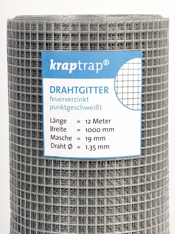 KrapTrap® Volierendraht Drahtgitter 19x19mm Masche 1x12m ...