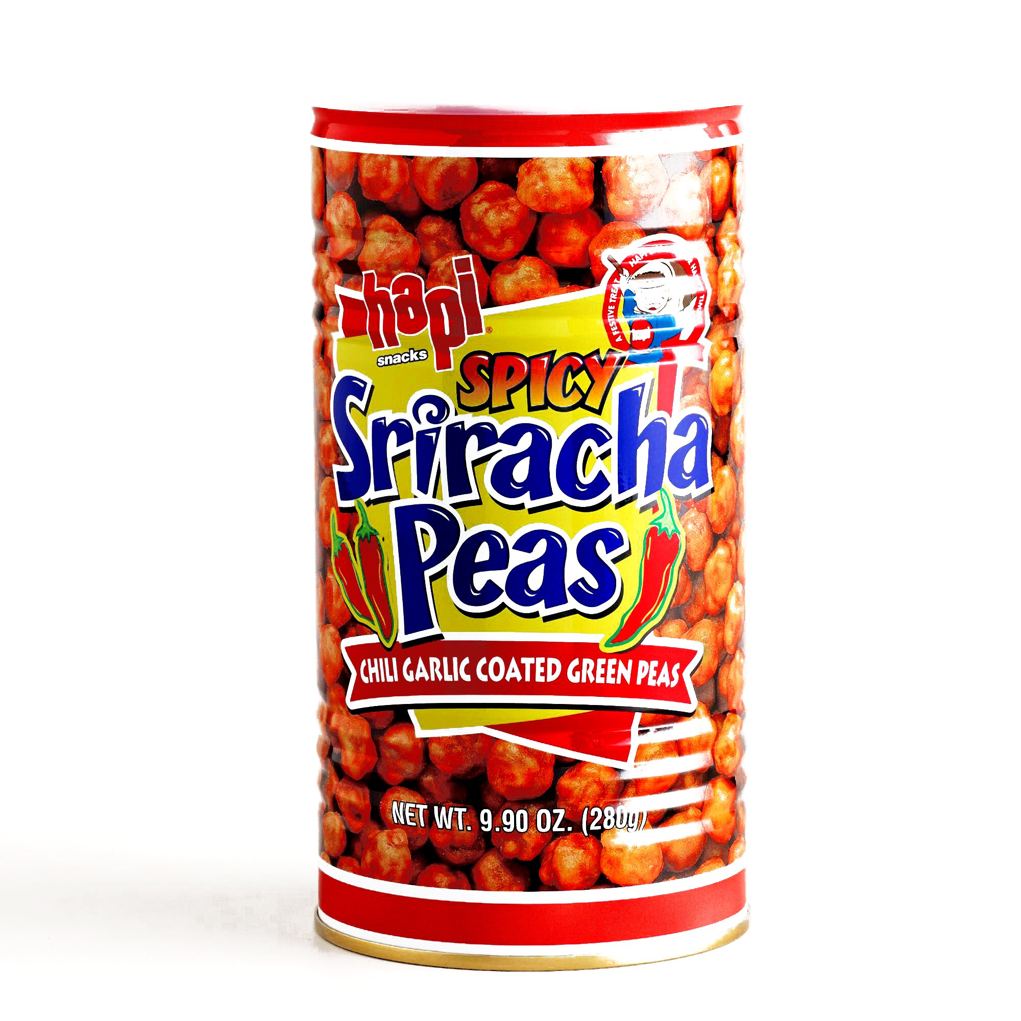 Hapi Spicy Sriracha Peas 9.9 oz each (6 Items Per Order) by Hapi Spicy