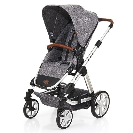 ABC Design Condor 4 - Cochecito - Set 2 en 1- con portabebés para recién nacidos y silla de paseo, silla infantil a partir de 6 meses negro Piano: ...