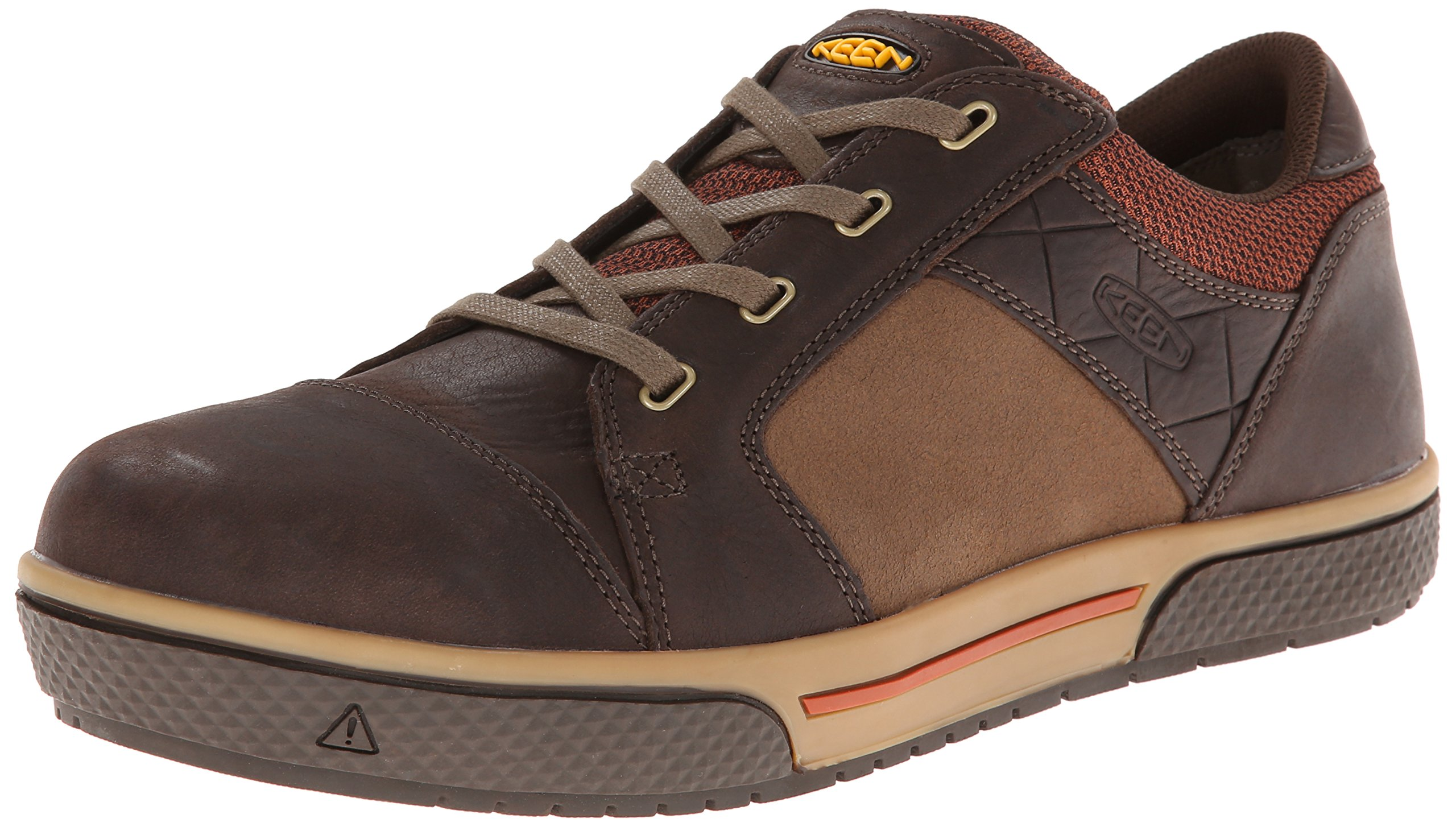 KEEN Utility Men's Destin Low Steel Toe Shoe,Cascade Brown/Bombay Brown,10.5 D US