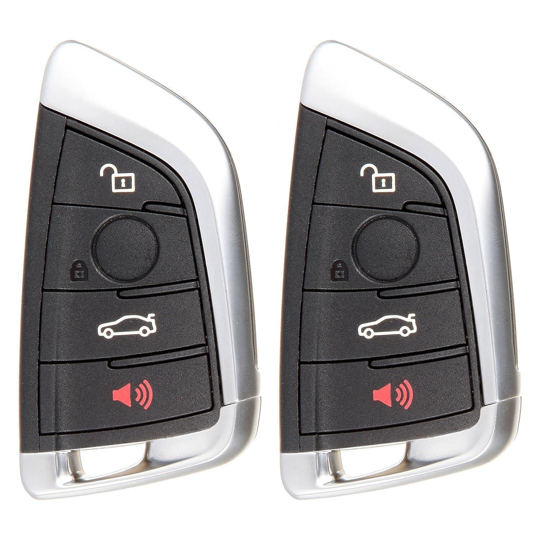 キーレスエントリーキット、ECCPP 2 x新しいスマートUncutキーレスエントリリモートfor BMW x5 x6 kr55wk49863車キーFob B0792VPKGV