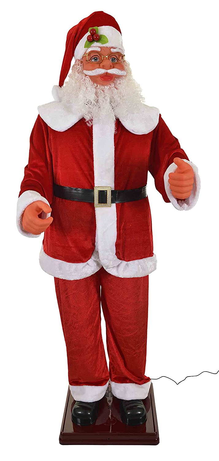 new improved singing u0026 dancing santa claus 5 songs 6ft tall 1 8m