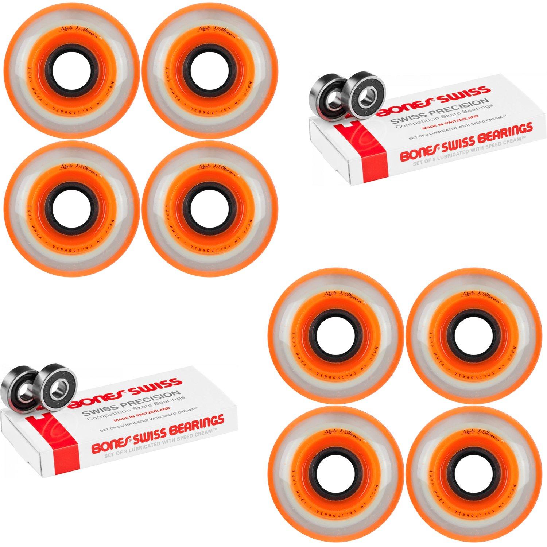Labeda Millennium Gripper Orange Hockey Inline Wheels 72mm SOFT 8 Pack Swiss