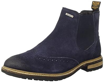 589682caa9f Superdry Men's Brad Brogue Chelsea Boots, Blue (Navy Suede), 42 EU ...