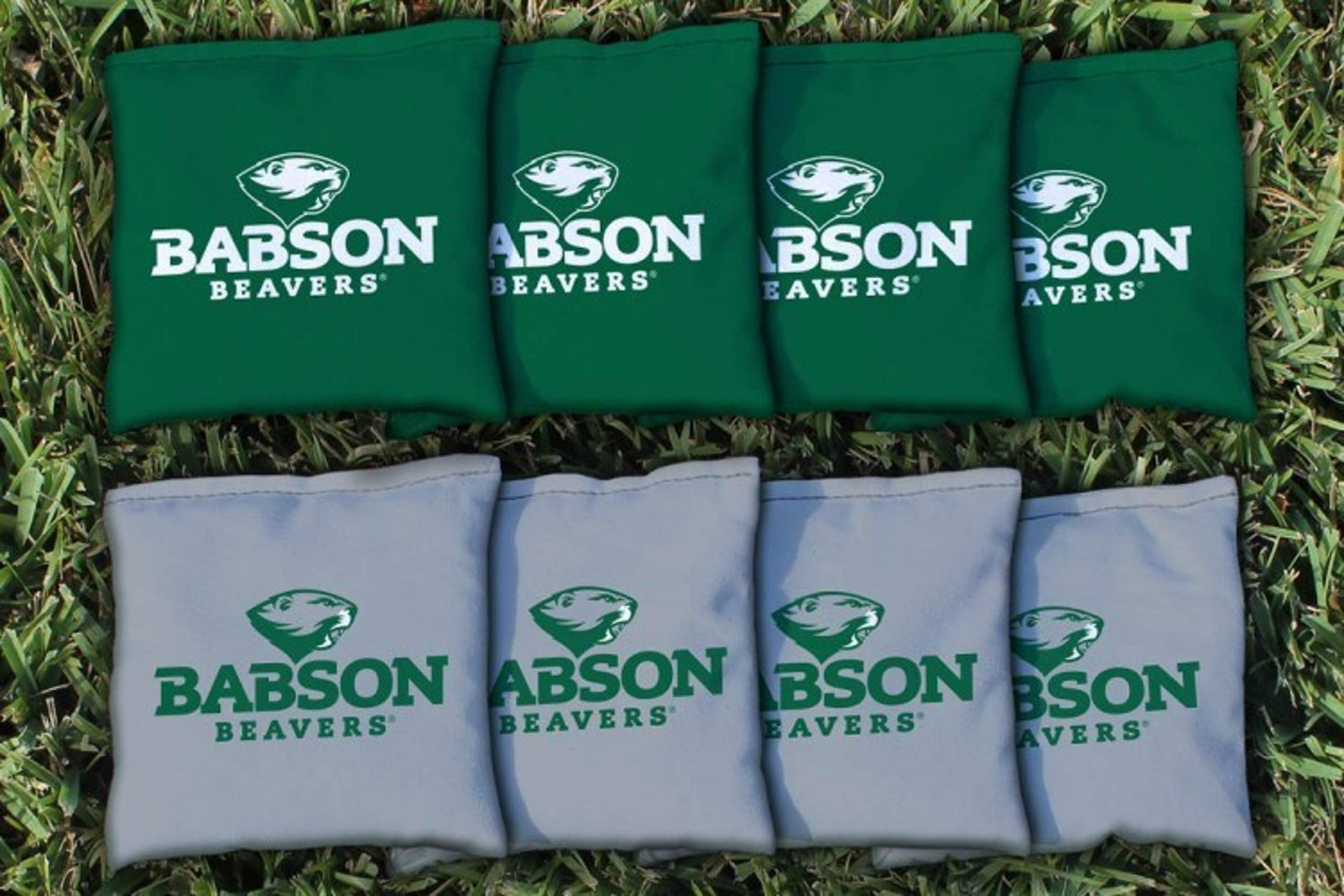 Victory Tailgate NCAA Regulation All Weather Cornhole Game Bag Set - 8 Bags Included - Babson Beavers by Victory Tailgate