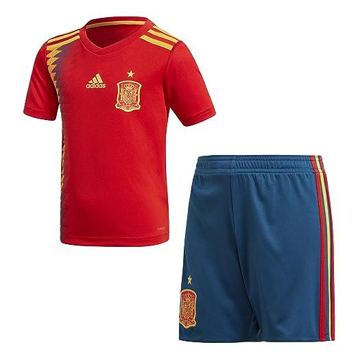 adidas Federación Española de Fútbol Conjunto, Unisex Niños, Rojo (dorfue), 128-7/8 años: Amazon.es: Ropa y accesorios