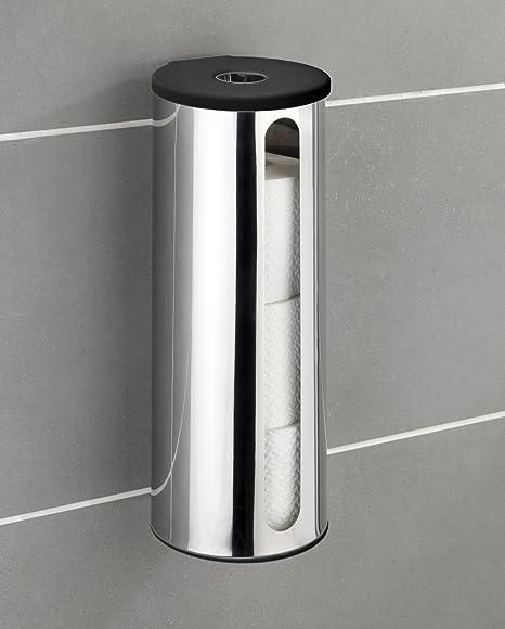 chrom 5 x 23.5 x 11 cm Wenko 17975100 Power-Loc Toilettenpapier-Ersatzrollenhalter San Remo Messing Befestigen ohne bohren