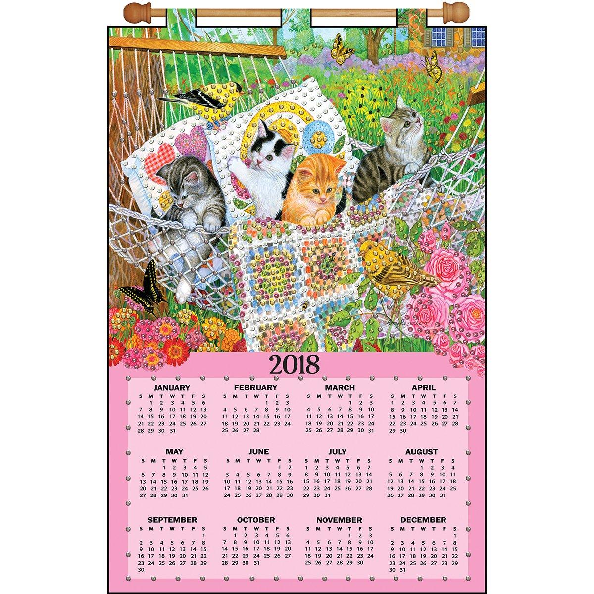 Design Works Hanging Out Kittens Calendar Felt /& Sequin Kit