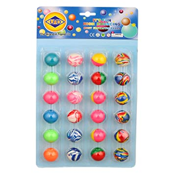Buy ZINIZONY Colorful Bouncy Balls Stress Reliever Fun Play Birthday Return Gift For Kids 24 Pcs Online At Low Prices In India