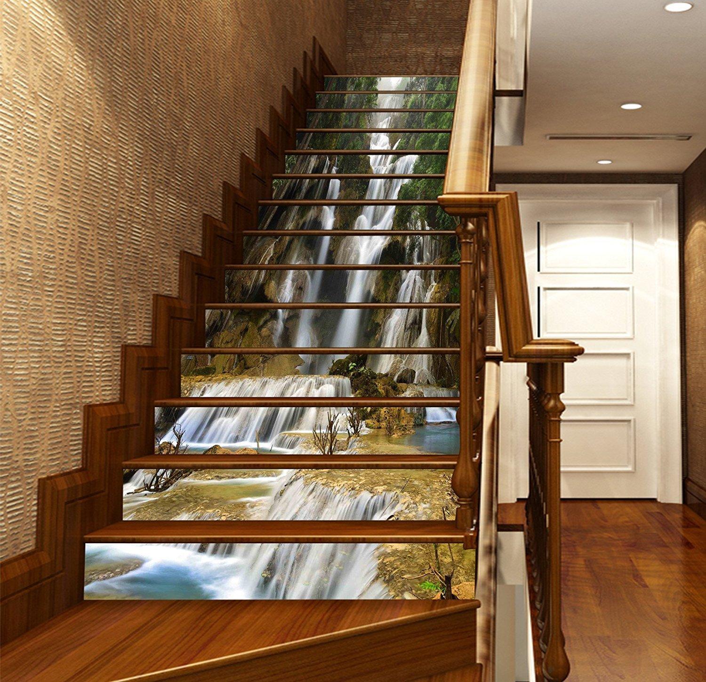 Amazon Estrellaw Waterfall River Stair Risers Decoration