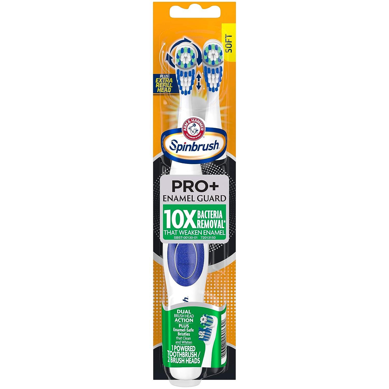 ARM & HAMMER Spinbrush Powered Toothbrush, Pro+ Enamel Guard