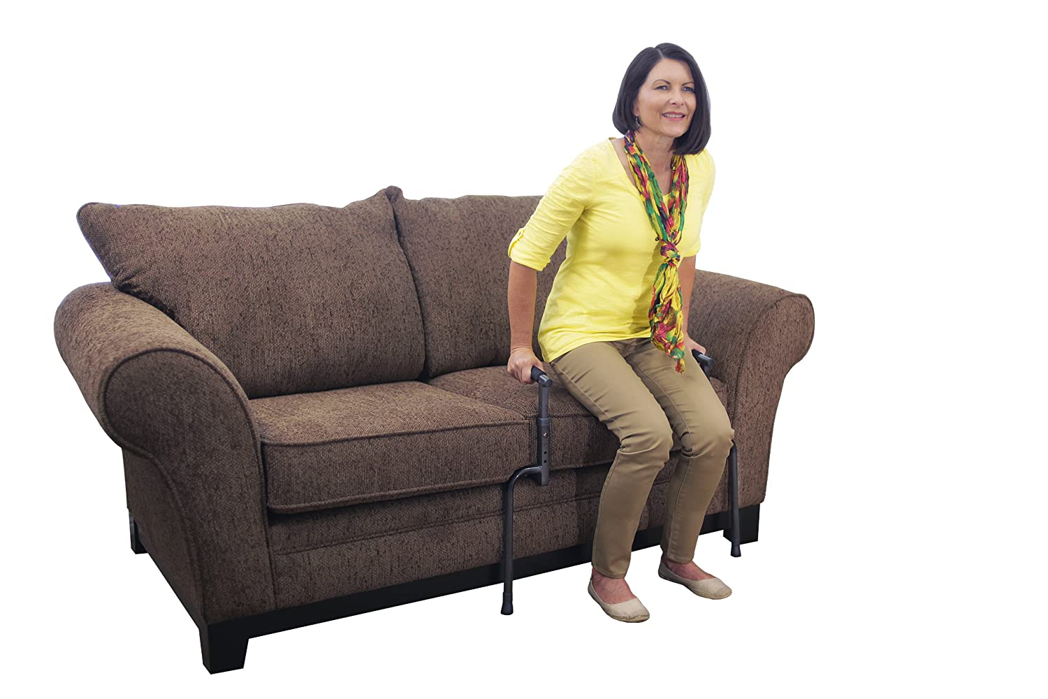 Able Life Universal Stand Assist - Adjustable Standing Mobility Aid + Assist Handle for Couch Chair & Sofa + Dual Cushioned Support Handles for Fall Protection 8150