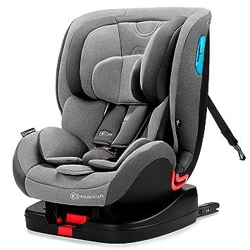 Kinderkraft Kinderautositz ONETO3 Gruppe 1//2//3 9-36kg 5-Punkt-Sicherheitsgurt Grau Autositz Kindersitz mit Isofix und Top Tether Autokindersitz ECE R44//04 Side Protection System