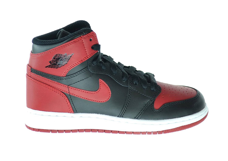 brand new 0c935 9e47f Amazon.com   Jordan Air 1 Retro High OG BG Big Kids Basketball Shoes Black Varsity  Red-White 575441-023   Basketball