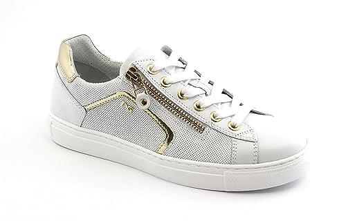 Sportive Lacci Giardini 05262 Bianco Nero Sneakers Zip Scarpe Donna xX616RSn