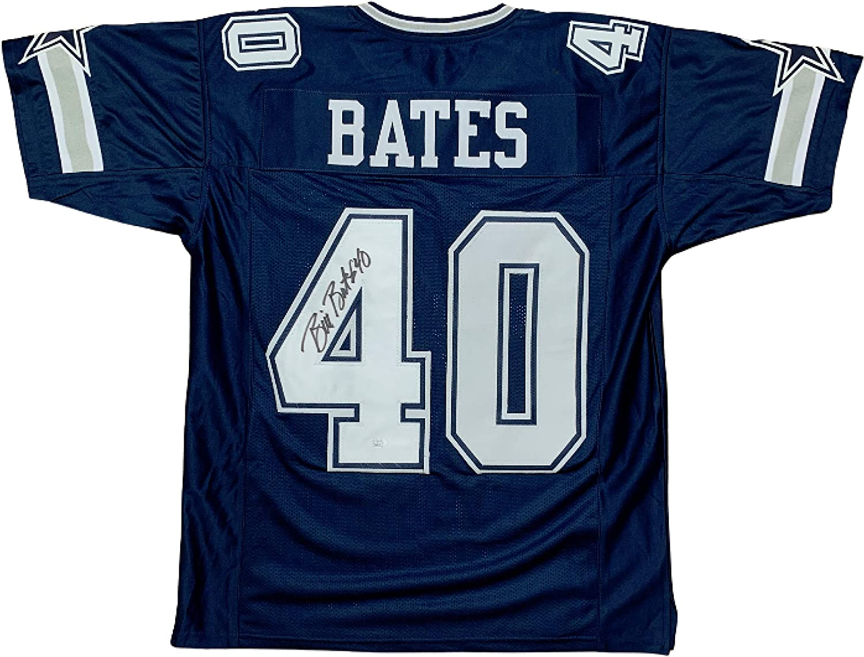 Bill Bates autographed signed jersey NFL Dallas Cowboys PSA COA at ...