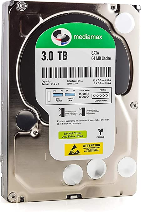 Mediamax 3tb Interne Festplatte Hdd 3 5 Zoll Sata Iii Computer Zubehör