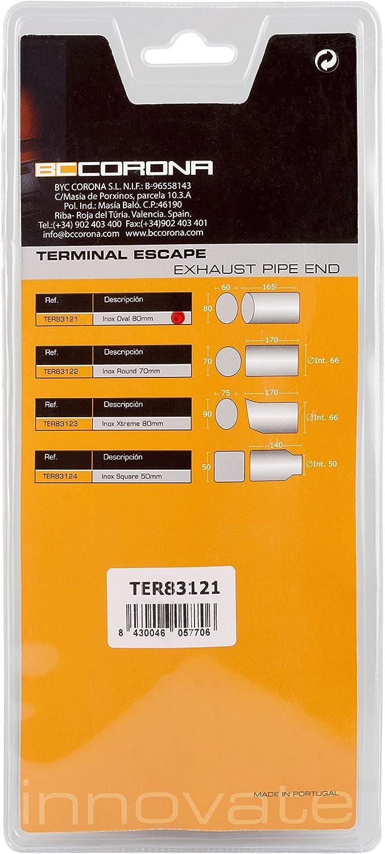BC Corona TER83121 Terminal Escape Oval Cromado Acero Coche ...