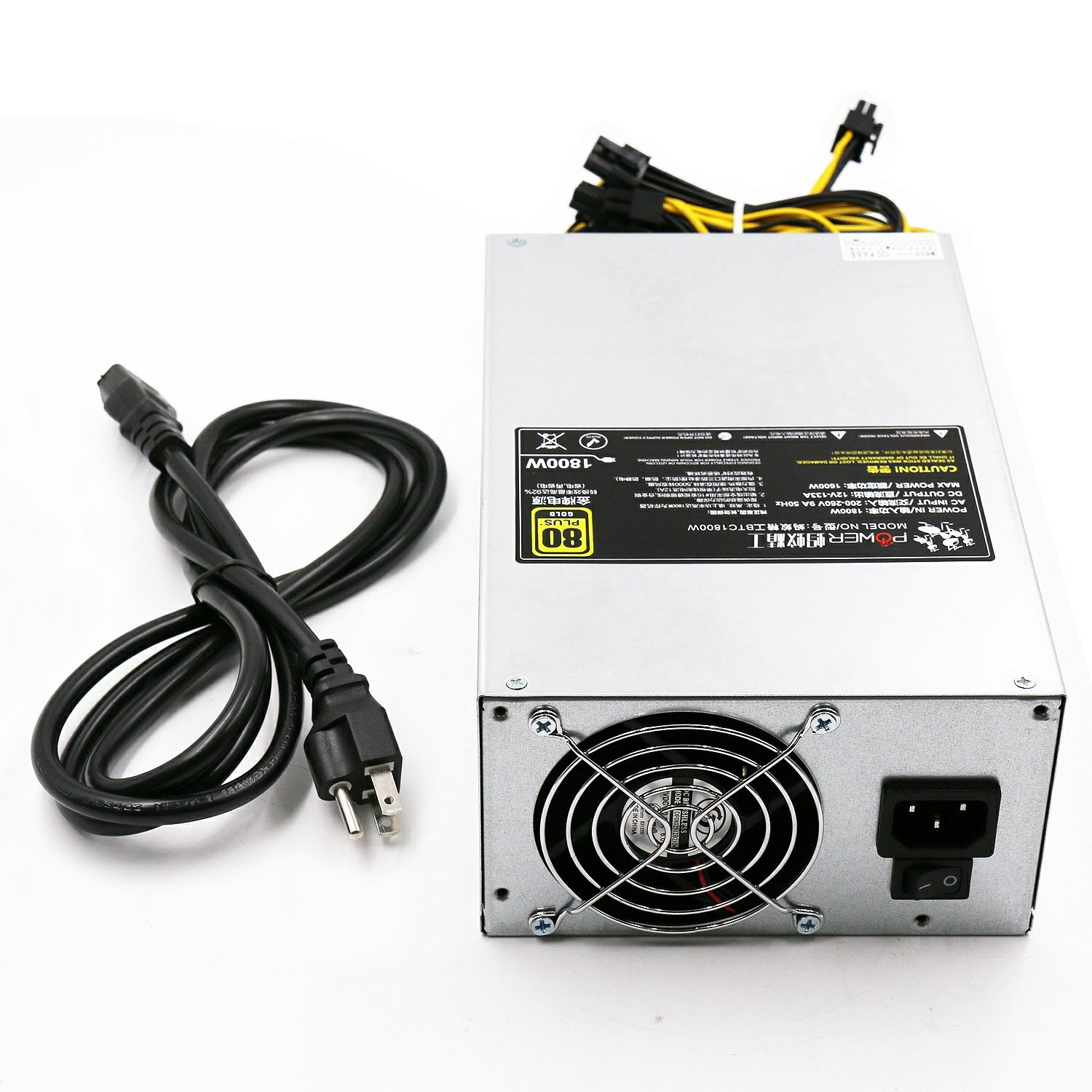 AntMiner S9 L3+ Power Supply (BTC1800W 1600W@220v 1200W@110v w/ 10 Connectors) by AntMiner