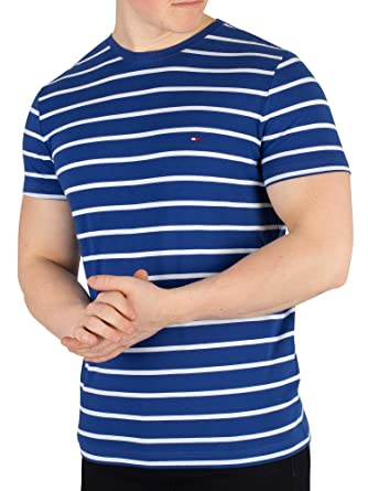 6d5939c1b06eb Tommy Hilfiger Men s Stretch Slim Fit Tee T-Shirt  Amazon.co.uk ...