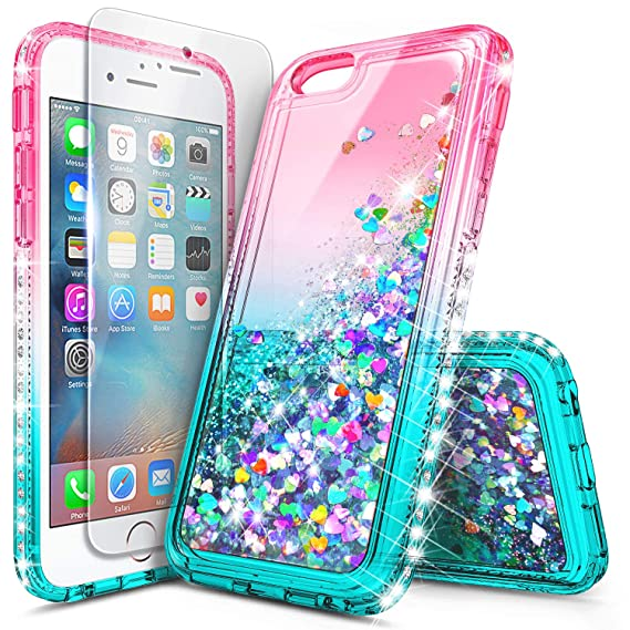 promo code c4c2a 0a902 iPhone 6S Case, iPhone 6 Glitter Case, NageBee Liquid Quicksand Waterfall  Floating Sparkle Bling Diamond Shockproof Durable Women Girls Kids Cute  Case ...