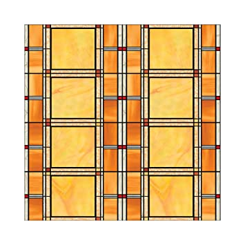 Amazoncom Arts And Crafts Stained Glass Window Film Decal - Stained glass window stickers amazon
