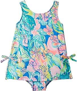0b1f5b84752e2 Lilly Pulitzer Kids Womens UPF 50+ Little Lilly Swimsuit (Toddler/Little  Kids/