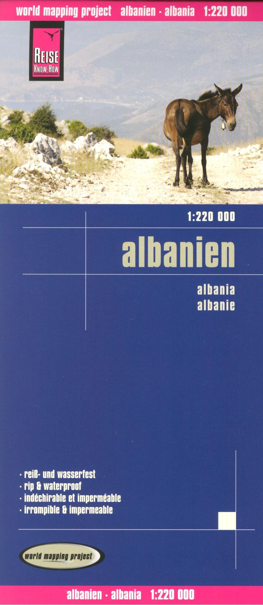 Download Albania 1:220,000 Travel Map, waterproof, GPS-compatible, REISE, 2012 edition pdf