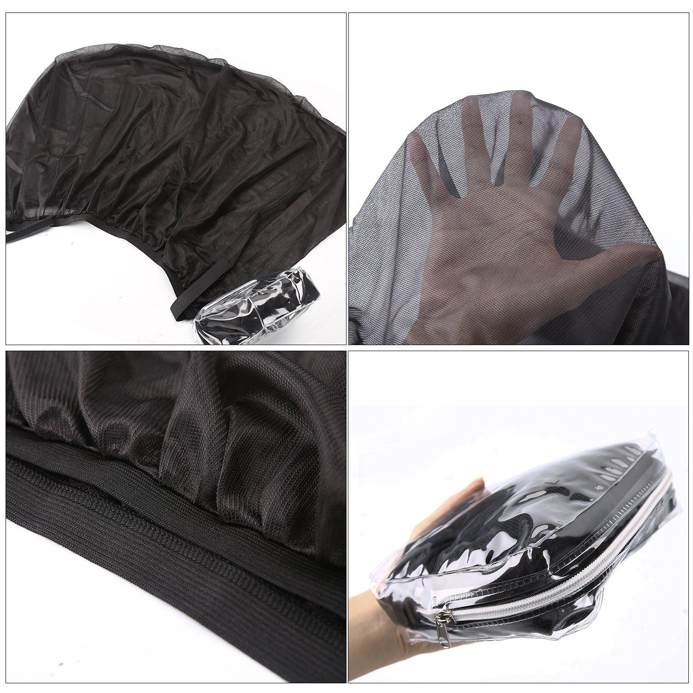 Bedee Pare-soleils, 2 Pièces Nuances de Fenêtre de Voiture, Bloquer les Rayons UV, Protégez Votre Enfant et Animaux (L (126×52cm) - pour SUV et grandes voitures)