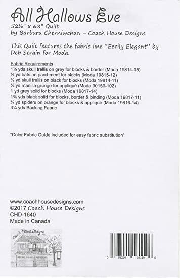 Amazon.com: Coach House Designs Quilt Pattern - All Hallows Eve (52 on muji house designs, chicken house designs, house house designs, coach nail designs, farm cottage designs, beautiful coach designs, american freedom designs, open air house designs, ralph lauren house designs, train depot designs, defensive house designs, disney house designs, lakeview house designs, woodstone designs, ford designs, coach promotions, school bus house designs, luxury row house designs, motor home house designs, boxcar house designs,
